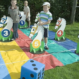 Giant Racing Horses Hire - Games2Hire