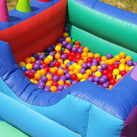 Inflatable Ball Pool With Air Jugglers Hire - Games2Hire