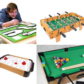Mini Table Top Golf / Pool / Air Hockey / Football Set Game Hire - Games2Hire