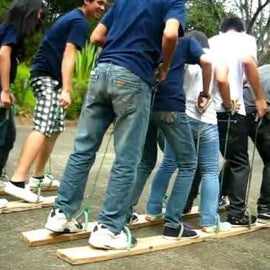 Plank Walk Team Building Game Hire - Games2Hire