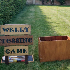 Welly Tossing Hire - Games2Hire
