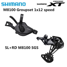 Load image into Gallery viewer, SHIMANO DEORE XT M8100 Groupset 1x12 Speed Rear Derailleur I-SPEC EV Shifter Lever