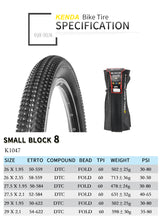 Load image into Gallery viewer, Kenda Small Block 8 MTB Tyres Trail/Downhill 26-29""