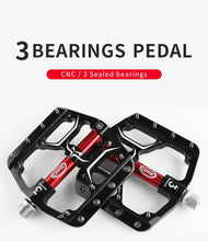 Load image into Gallery viewer, MTB Flat Pedals 3 Bearings CNC Alloy