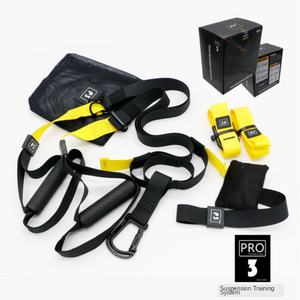 Fitness Suspension Exercise Trainer Resistance Bands Pro 3 Home Gym
