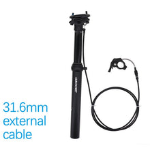 Load image into Gallery viewer, MTB Dropper Seatpost Height Adjustable Internal/External Routing 100mm Travel