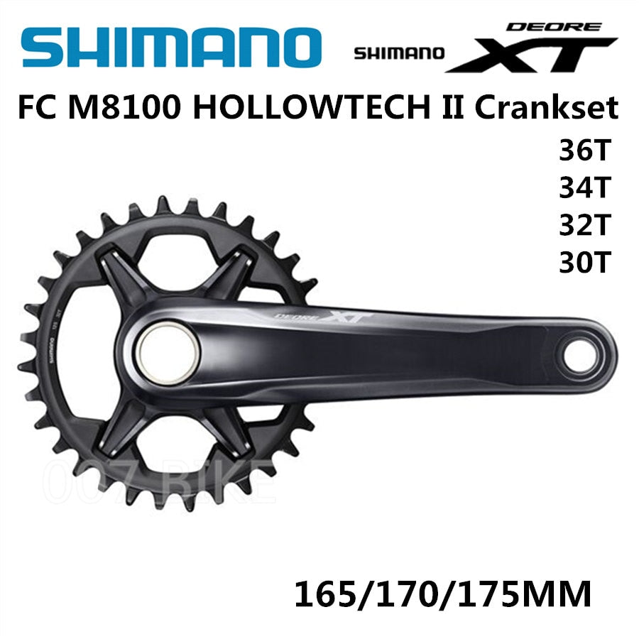 SHIMANO DEORE XT FC M8100 Crankset M8100 12x Speed with Bearings 30T 32T 34T 36T 170MM 175MM