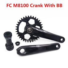 Load image into Gallery viewer, SHIMANO DEORE XT FC M8100 Crankset M8100 12x Speed with Bearings 30T 32T 34T 36T 170MM 175MM