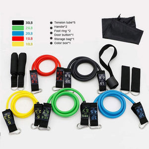 Fitness Resistance Bands Crossfit Training Body Exercise 11pcs/set Home Gym