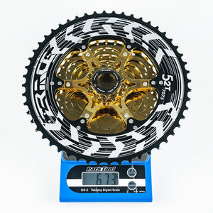 MTB Lightweight Cassette 12x Speed 11-50T/11-52T Gold -Compatible M9100 / XX1 X01 GX NX Eagle
