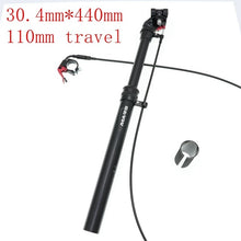 Load image into Gallery viewer, MTB 110mm Dropper Seatpost Adjustable Height Remote Control/Manual