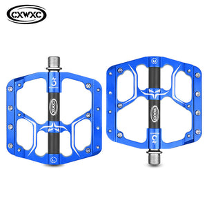 MTB Flat Pedals 3 Bearings CNC Alloy