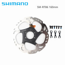 Load image into Gallery viewer, SHIMANO Deore XT RT86 Disc Brake Rotor 6 Bolt Ice Point Tech