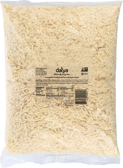 daiya mozzarella shreds dairy free cheese