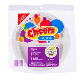 "Cheers Starch-Based Plate, Natural 9"" 12 pcs"