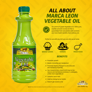 marca leon vegetable oil coconut oil baking