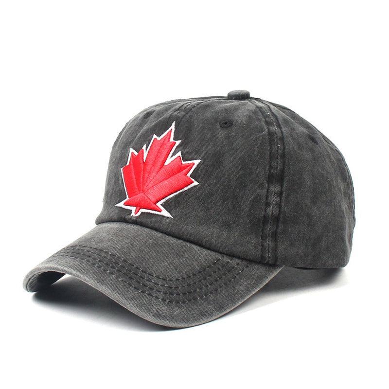 Maple Leaf Washed Svart Adjustable