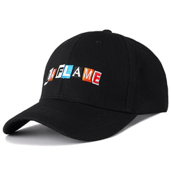 Svart Dad Hat LA FLAME