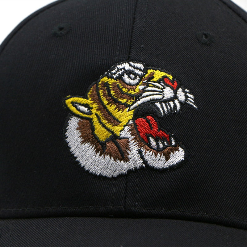 Tiger Roar Svart Unconstructed Dad Hat
