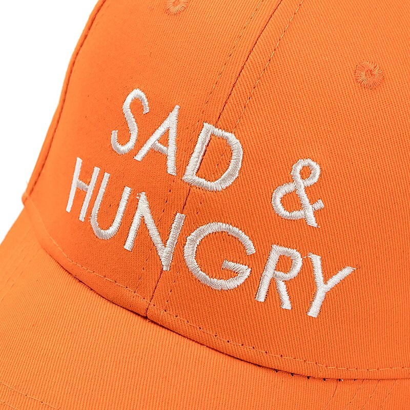 Sad & Hungry Orange Adjustable Keps