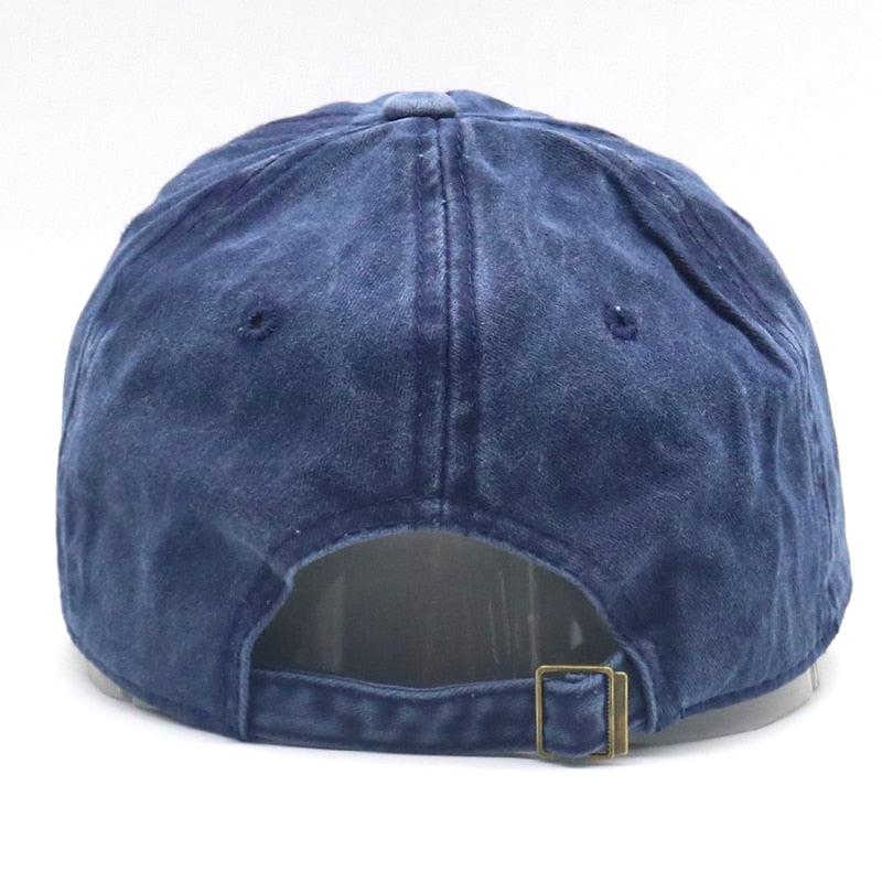 Bad Hair Day Navy Washed Adjustable