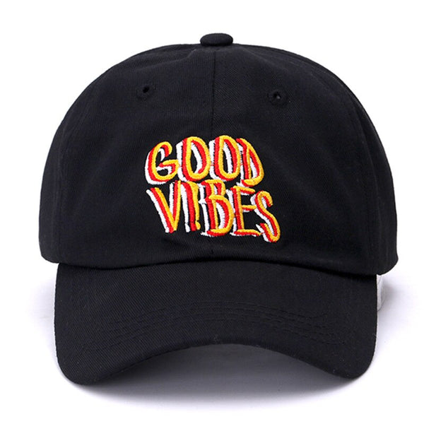 Good Vibes Svart Unconstructed Dad Hat