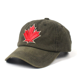 Maple Leaf Washed Army Green Adjustable