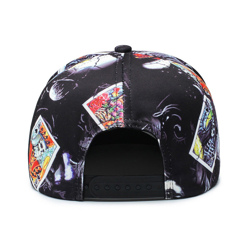 Skeleton Cards Svart Snapback