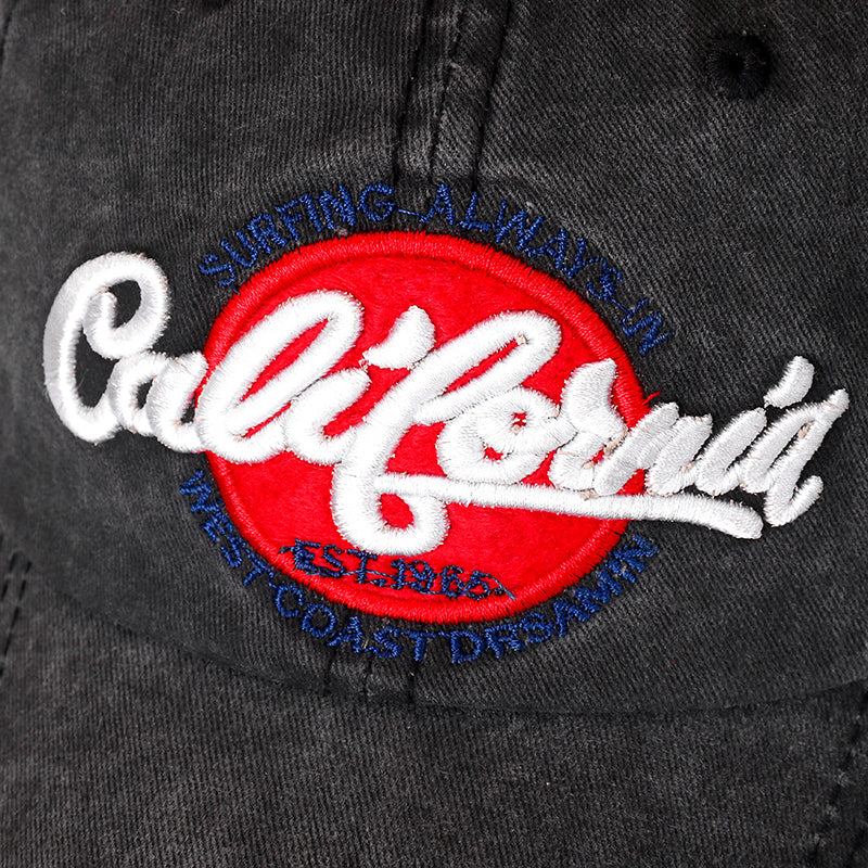 California Svart Washed Adjustable