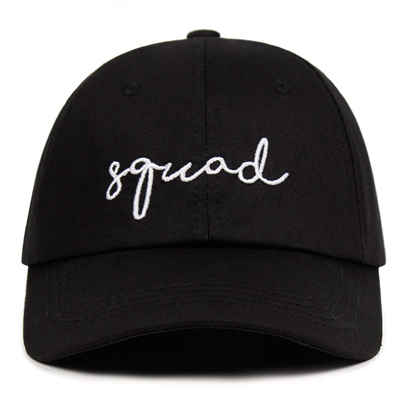 Squad Svart Adjustable Dad Hat