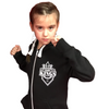Kids Black Hoodie with White Logo