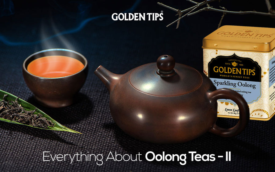 Three cups of oolong tea