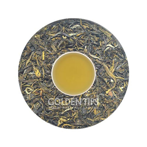 Flowery Pekoe Leaf Green Tea 200g / 7.05oz - Golden Tips Tea (India)