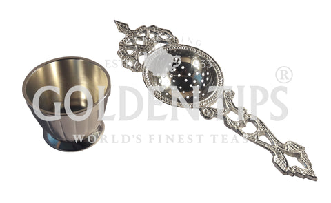 Tea Strainer (Silver) - Golden Tips Tea (India)