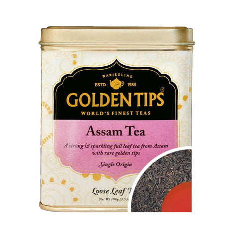 Assam Tea Tin Can (100gm) - Golden Tips Tea (India)
