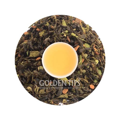 Cinnamon Cardamom Green Tea - Golden Tips Tea (India)