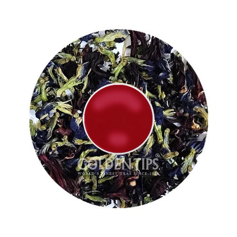 PURPLE TEA - Pea Butterfly - Hibiscus , Amethyst Ardor Green Tea - Golden Tips Tea (India)