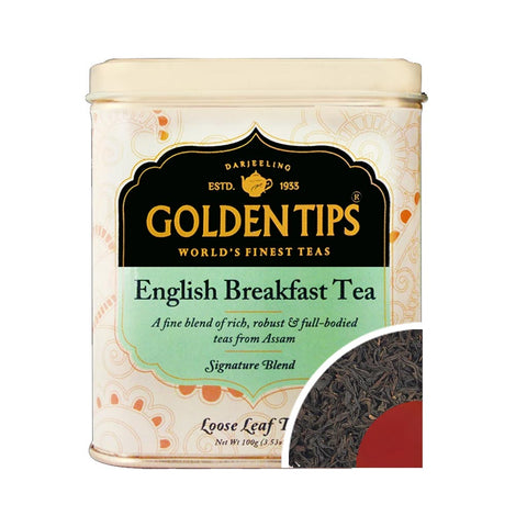 English Breakfast Tea Tin Can (100gm) - Golden Tips Tea (India)
