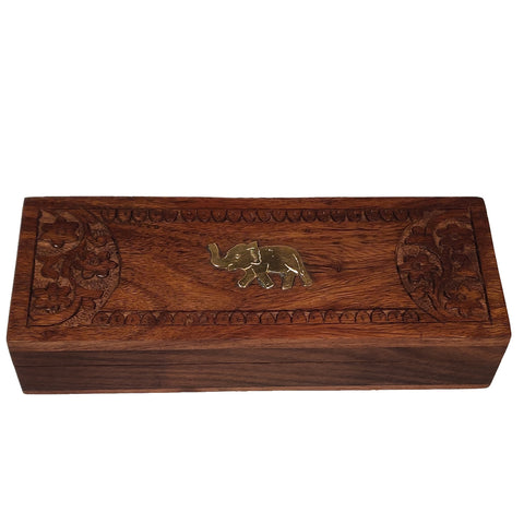 Spring & Autumn Darjeeling Carved Wooden Box (2x25g) - Golden Tips Tea (India)
