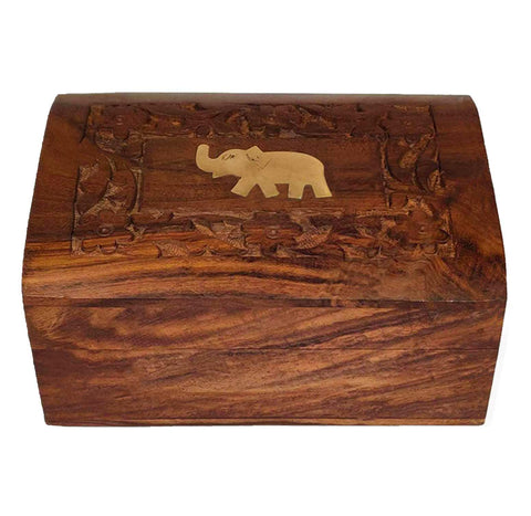 Silver-tipped Orthodox Darjeeling Black Tea in a Carved Wooden Box - Golden Tips Tea (India)