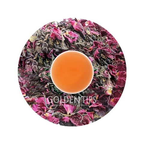Green Blush Whole Leaf Rose Green Tea - Golden Tips Tea (India)