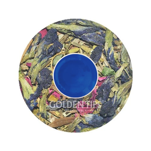 BLUE TEA - Butterfly Pea Flower Herbal Tea, Empyrean Azure Green Tea - Golden Tips Tea (India)
