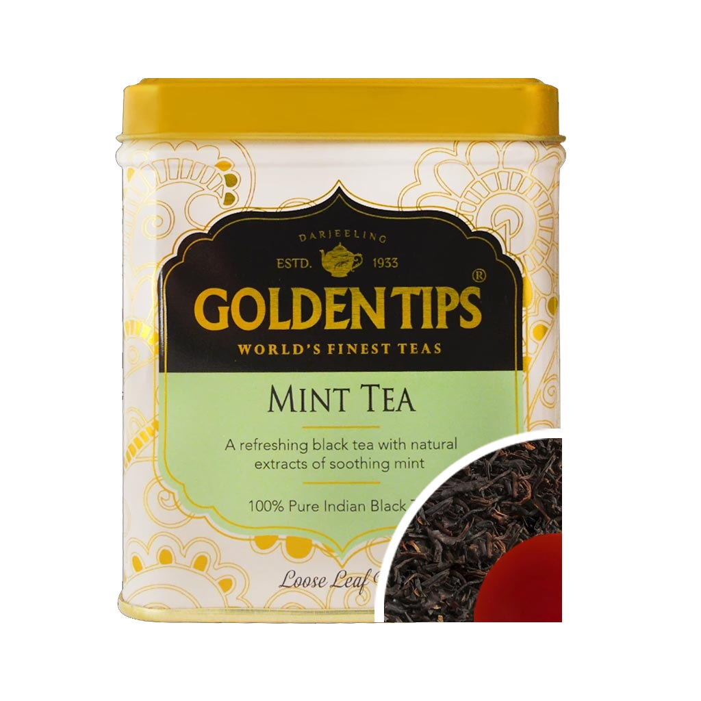 Mint Flavoured Black Tea- Tin Can, 100g