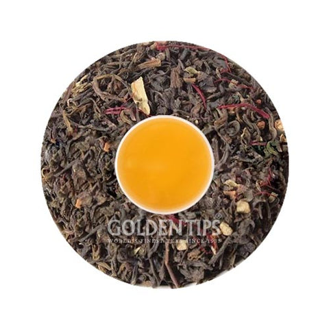 Saffron Kashmiri Kahwa Loose Leaf Green Tea - Golden Tips Tea (India)