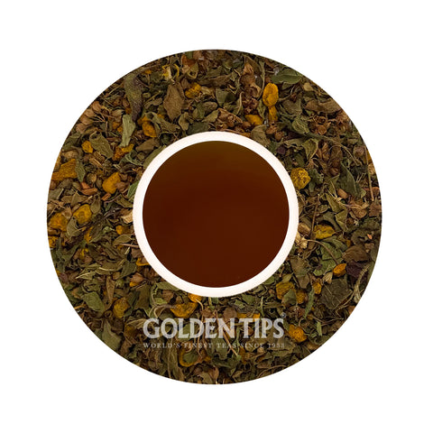 Herbyoga -Tulsi, Turmeric & Ginger Herbal Tea (100 gm) - Golden Tips Tea (India)