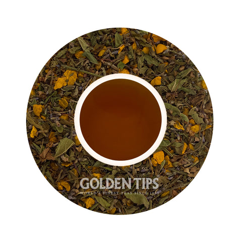 Herbyoga - Tulsi, Turmeric & Lavender Herbal Tea (100 gm ) - Golden Tips Tea (India)