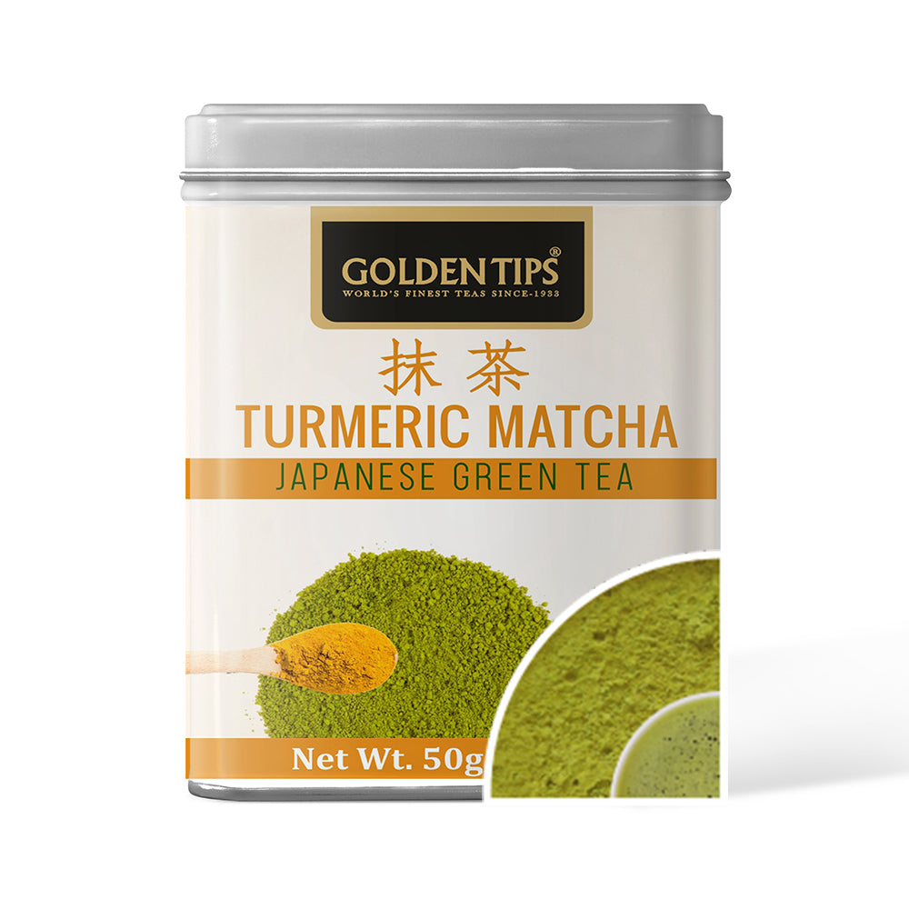 Turmeric Matcha Japanese Green Tea - Tin Can - Golden Tips Tea (India)