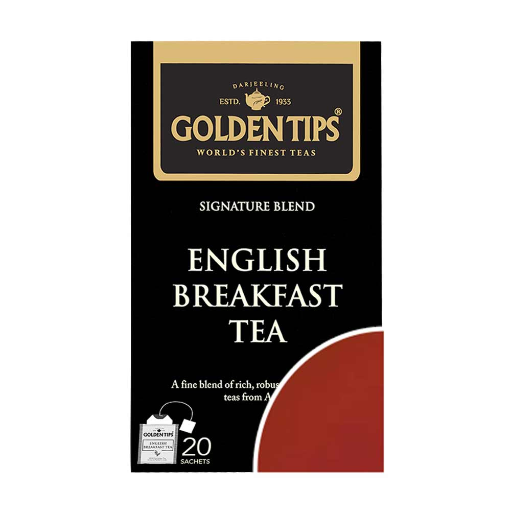 English Breakfast Envelope Tea - Tea Bags - Golden Tips Tea (India)