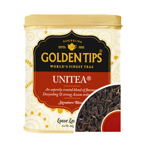 Unitea Tin Can  100 Gm - Golden Tips Tea (India)