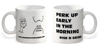 Perk Up Your Morning 20 oz White Ceramic Mug